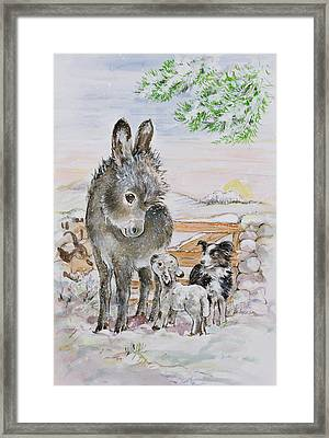 Best Friends Framed Print by Diane Matthes