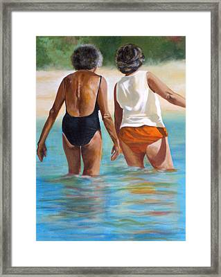 Best Friends Framed Print by Fiona Jack