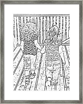 Best Friends Forever Framed Print by Barbara Griffin