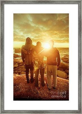 Framed Print featuring the photograph Best Friends Greeting The Sun by Jorgo Photography - Wall Art Gallery
