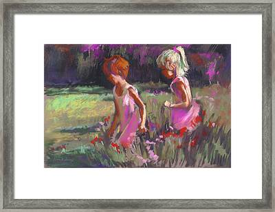 Best Friends Framed Print by Joan  Jones