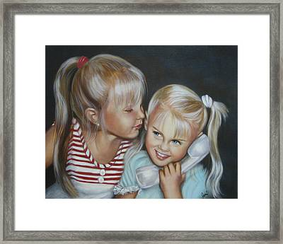 Framed Print featuring the painting Best Friends by Joni McPherson