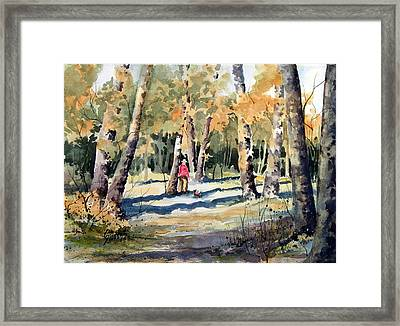 Walking With A Friend Framed Print by Sam Sidders