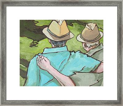Best Friends Framed Print by Sandy Tracey