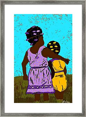 Best Friends Framed Print by Saundra Myles