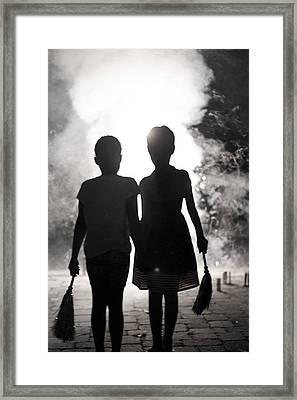 Best Friends Framed Print by Sheryl Bergman