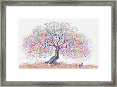 Best Friends Under The Rainbow Tree Of Dreams Framed Print by Nick Gustafson