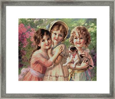 Best Of Friends Framed Print by Emile Vernon