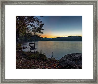 Best Seat In The House Framed Print