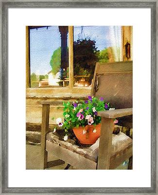 Best Seat In The House Framed Print by Sandy MacGowan