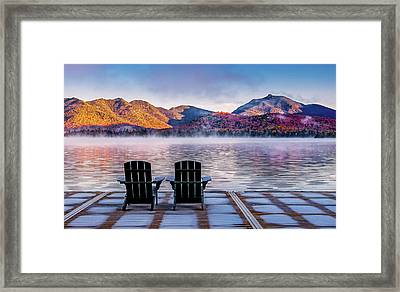 Best Seats In The Adirondacks Framed Print