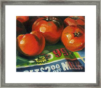 Framed Print featuring the painting Best Value by Pat Burns
