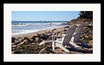 Surf The Rincon Framed Prints