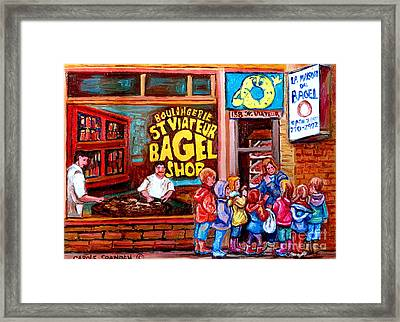 Bet You Cant Eat Just One Framed Print by Carole Spandau