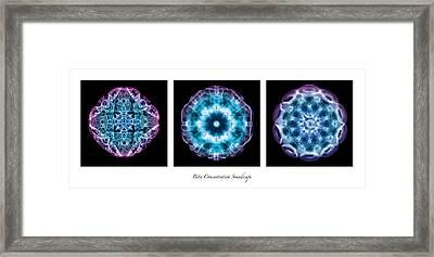 Beta Soundscape Framed Print by CymaScope