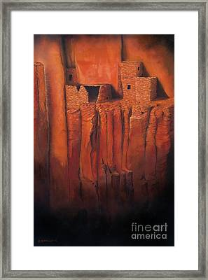 Betatakin Ruins Framed Print by Jerry McElroy