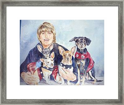 Beth And Her Babies Framed Print