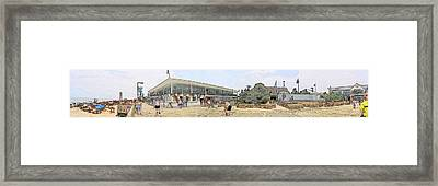Bethany Beach Boardwalk Framed Print by Jeffrey Todd Moore