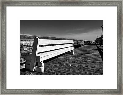 Bethany Beach Boardwalk Framed Print