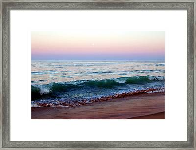 Bethany Pink Sunset Framed Print