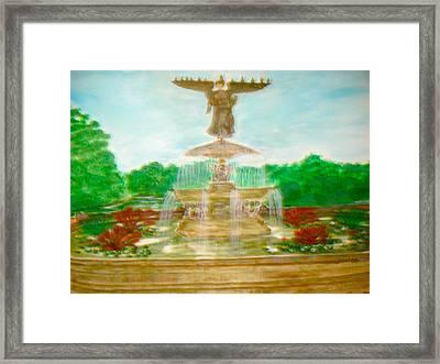 Bethesda Fountain Central Park Framed Print