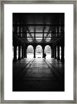 Bethesda Fountain Tunnel  Framed Print by Christopher Kirby