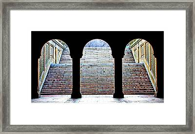 Bethesda Terrace Arcade Framed Print by Suzanne Stout