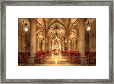 Bethlehem Chapel Washington National Cathedral Framed Print