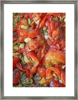 Bethlehem Fried Tomatoes Framed Print