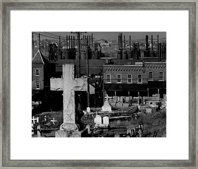 Bethlehem Graveyard And Steel Mill Framed Print