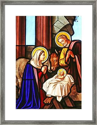 Bethlehem Nativity Scene Framed Print