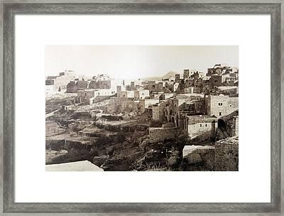 Bethlehem Old Main Street Framed Print