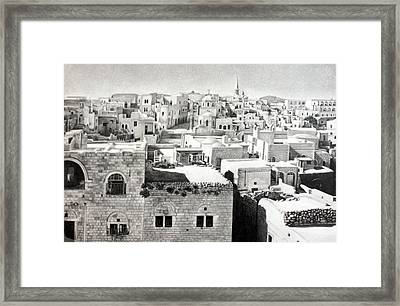 Bethlehem Old Town Framed Print by Munir Alawi
