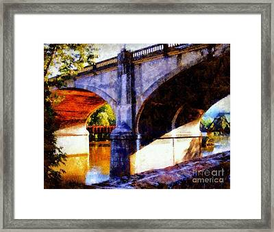 Framed Print featuring the photograph Bethlehem Pa Bridge - Tunnel Vision by Janine Riley