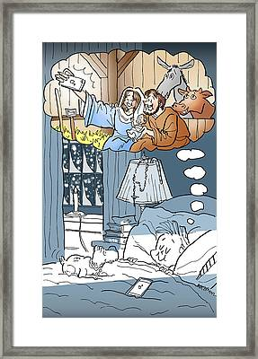 Nativity Selfie Framed Print