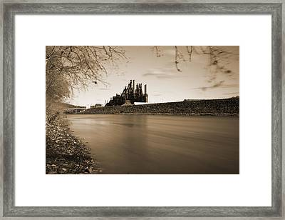 Bethlehem Steel Along The Lehigh Framed Print