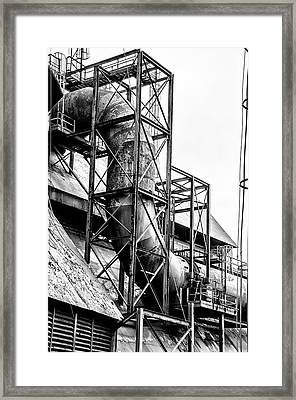 Bethlehem Steel - Black And White Industrial Framed Print by Bill Cannon