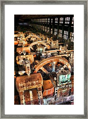 Bethlehem Steel Blower House Framed Print by Olivier Le Queinec