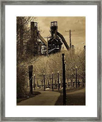 Bethlehem Steel Mill Framed Print by Luis Lugo