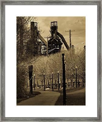 Bethlehem Steel Mill Framed Print by Luis Lugo