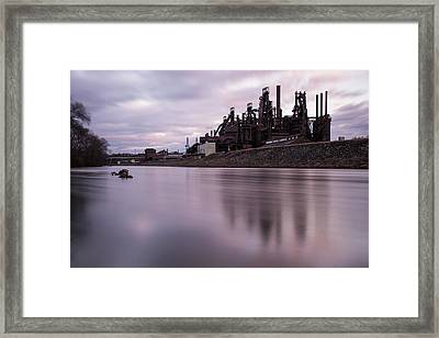 Bethlehem Steel Sunset Framed Print