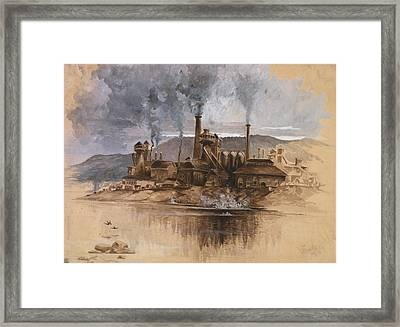 Bethlehem Steel Works In May 1881 Framed Print by Everett