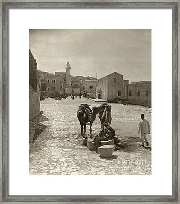 Bethlehem: Street, C1911 Framed Print