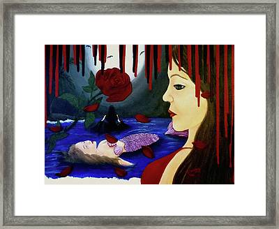 Framed Print featuring the painting Betrayal by Teresa Wing