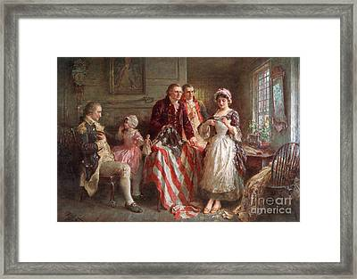 Betsy Ross, 1777 Framed Print by Photo Researchers
