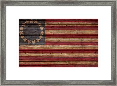 Betsy Ross American Flag Barn Framed Print by Dan Sproul