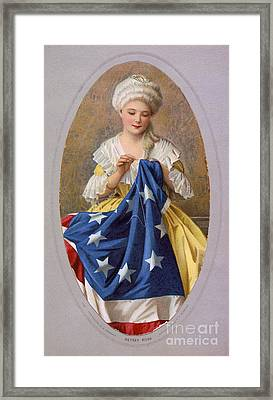 Betsy Ross, American Flag Design Framed Print by Science Source