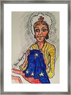 Betsy Ross Framed Print by Geraldine Myszenski