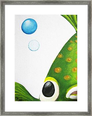 Betta Bubble Framed Print by Oiyee At Oystudio