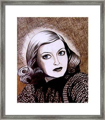 Bette Davis 1941 Framed Print